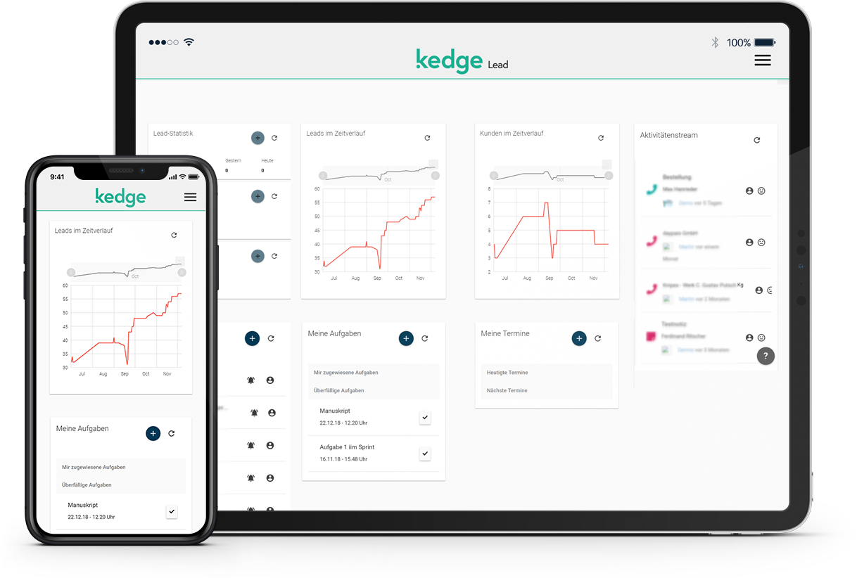 kedge Lead Tablet und Smartphone